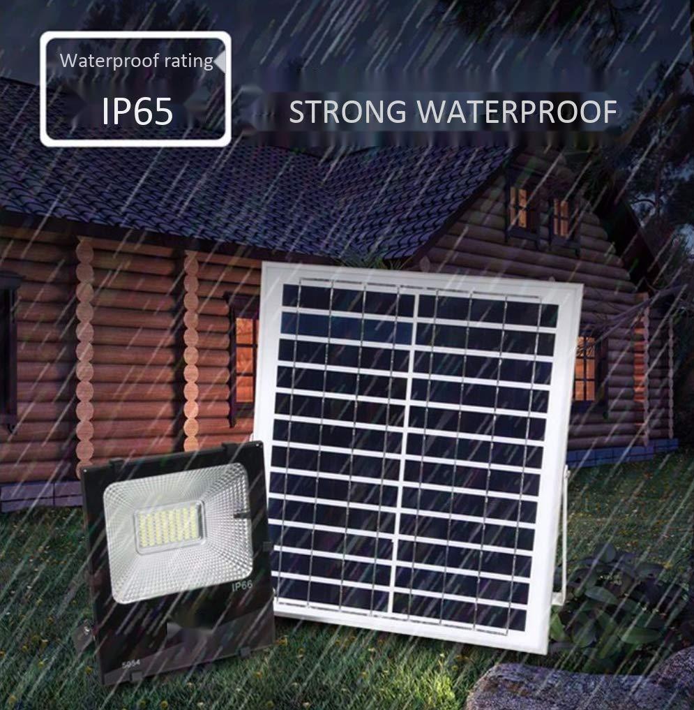 Z-TYND Reflector de Seguridad Solar,10W LED Control de luz al Aire Libre Impermeable IP65 Luces de jardín Alto Brillo,con Control Remoto y función de ...