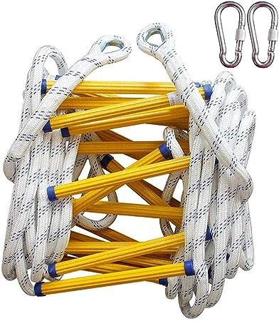 Escalera de Cuerda Escalera de Emergencia Escalera de Cuerda de Emergencia Resistente al Fuego Escalera de Nailon Suave para Niños y Adultos para Escalada,árbol, casa (Size : 8M(26.3)): Amazon.es: Hogar