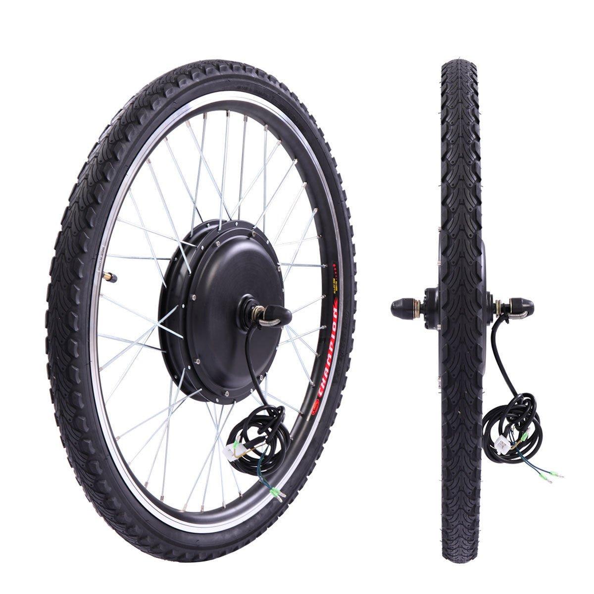 JAXPETY 36V 500W Electric Bicycle Cycle 26'' E Bike Front Wheel Ebike Hub Motor Conversion Kit Hub Motor Wheel by JAXPETY (Image #3)