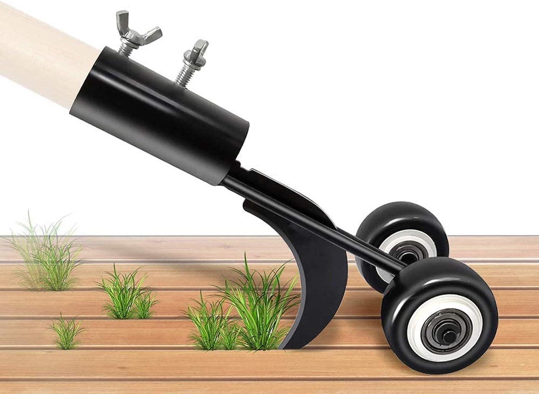 Foyute Manual Weeders, Weeds Snatcher Crack & Crevice Weeding Tool Weed Puller Household Helper Garden Tools Stand up Manual Weeder Hand Tool (Curved Hook)