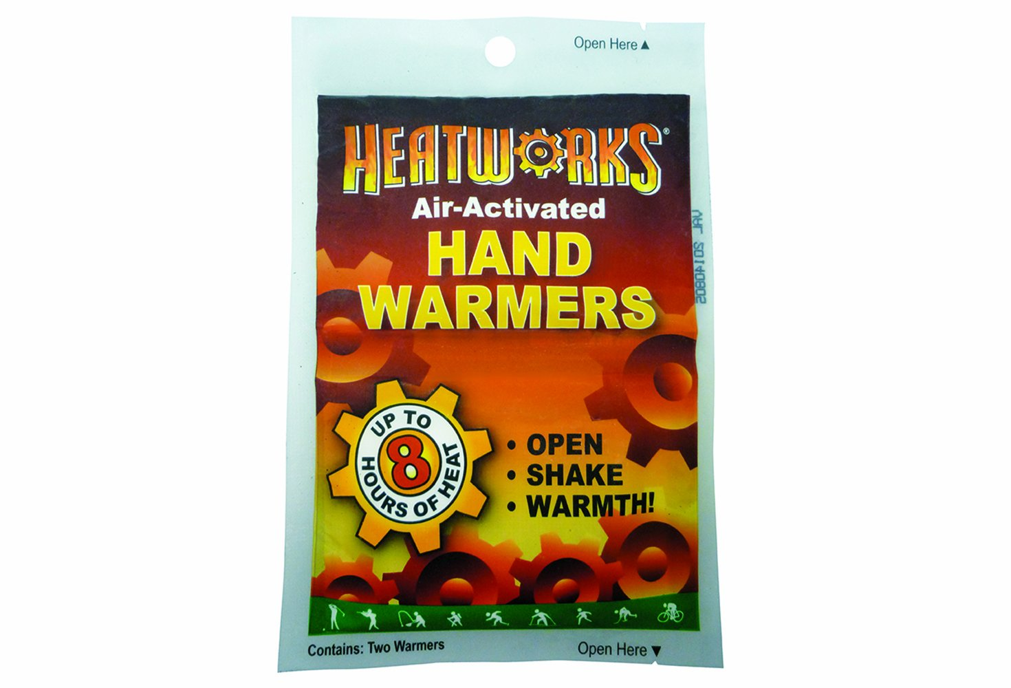 AMMEX - HW1 - Hand Warmers - Heatworks - 40 pairs/box; 6 boxes/case, Adhesive Long Lasting Heat, Single Use, Air-Activated  (Case of 240 Pairs)