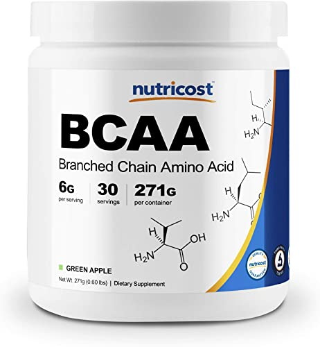 Nutricost BCAA Powder- 2 1 1 Green Apple 30 Servings