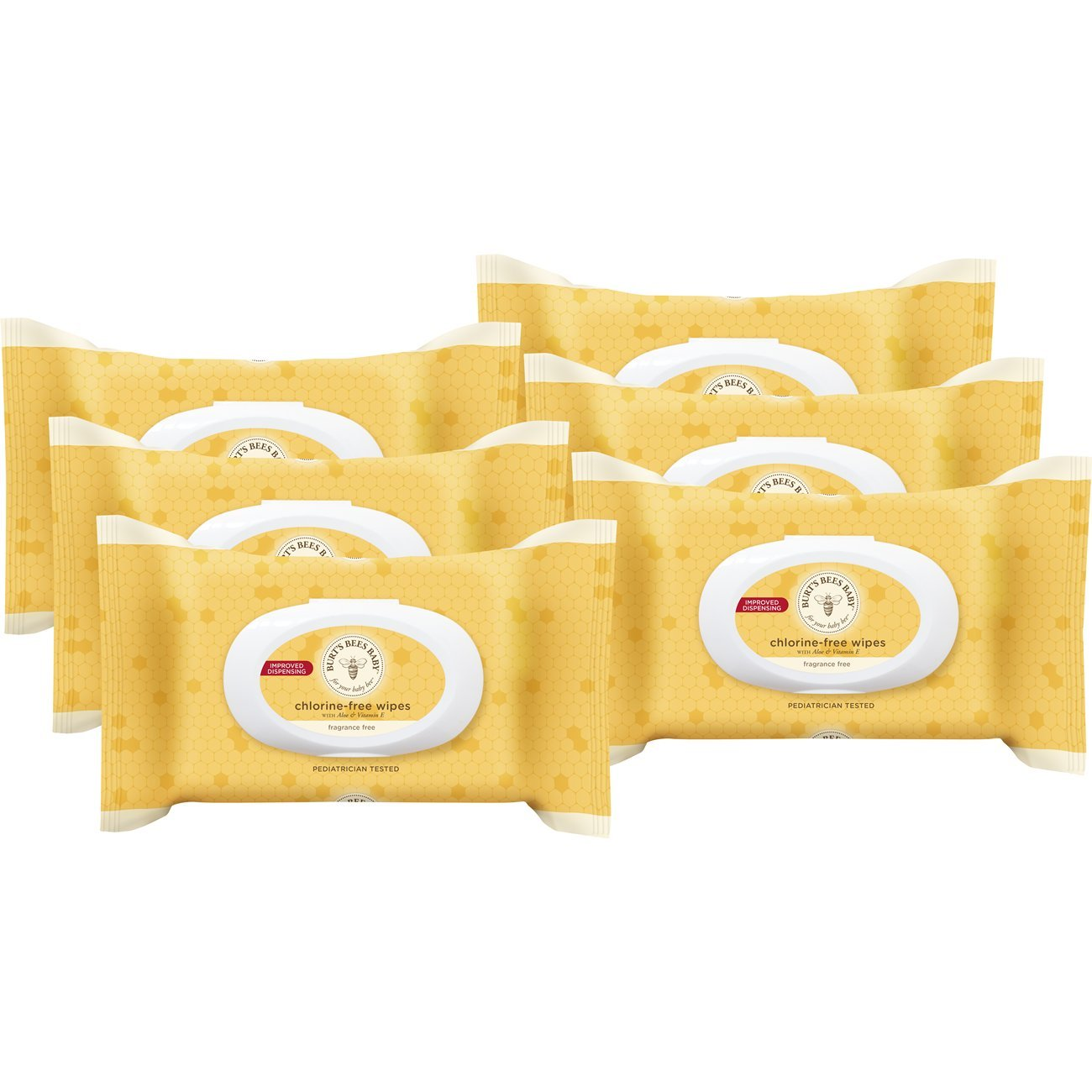 Burt's Bees Baby Chlorine-Free Wipes, Unscented Natural Baby Wipes – 72 Wipes (Pack of 6)