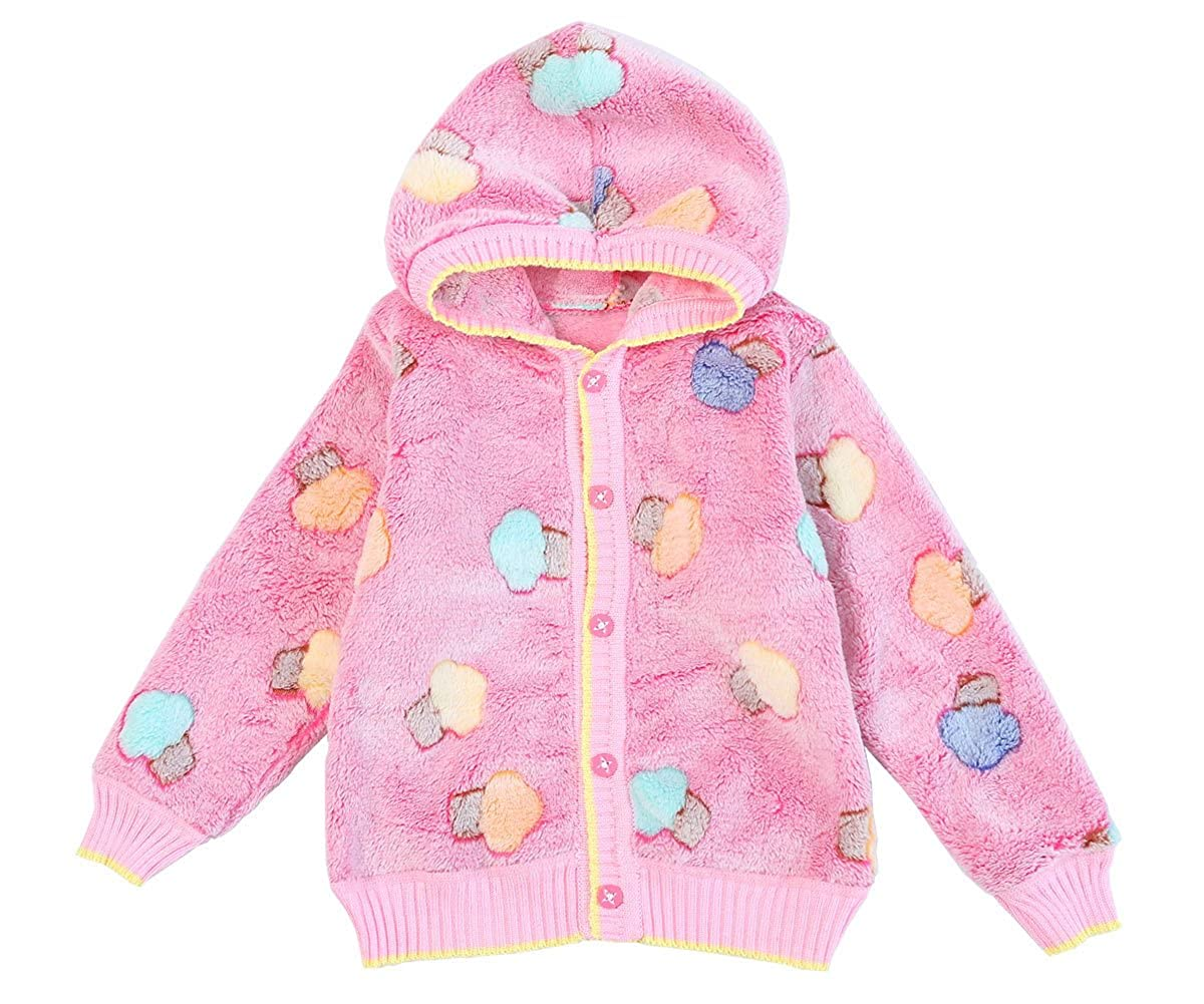 ZHUANNIAN Baby Girls Boys Cartoon Fleece Cardigan Hooded Jacket