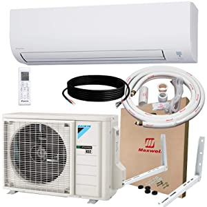 DAIKIN 12,000 BTU 19 SEER Wall-Mounted Ductless Mini-Split A/C Heat Pump System Maxwell 15-ft Installation Kit & Wall Bracket (230V) 12 Year Limited Warranty (12,000 BTU_208-230V)