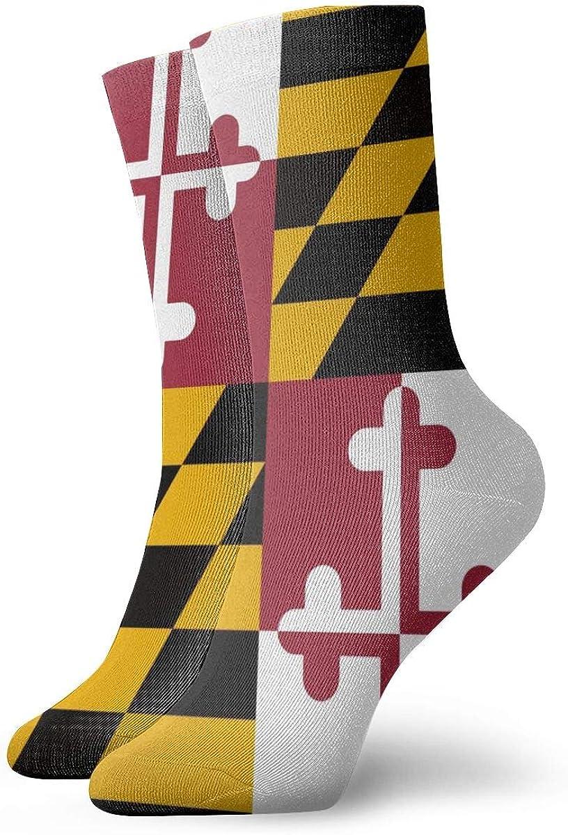 Flag Of Maryland Ankle Socks For Women /& Men Fitness Travel Flight Socks