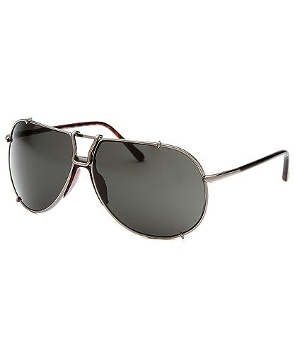 Amazon.com: Tom Ford Luca ft0239 sunglasses-12 a Gunmetal ...