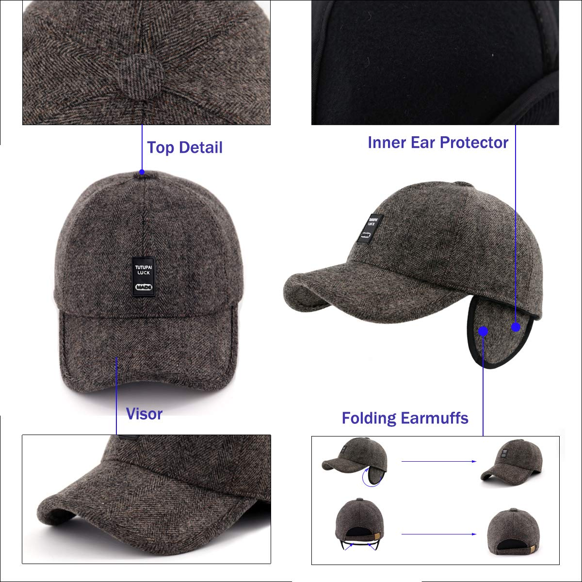 6229734a237 Gisdanchz Winter Baseball Hat