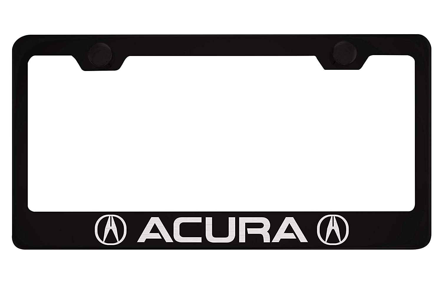 Acura Black License Plate Frame with Caps PCR