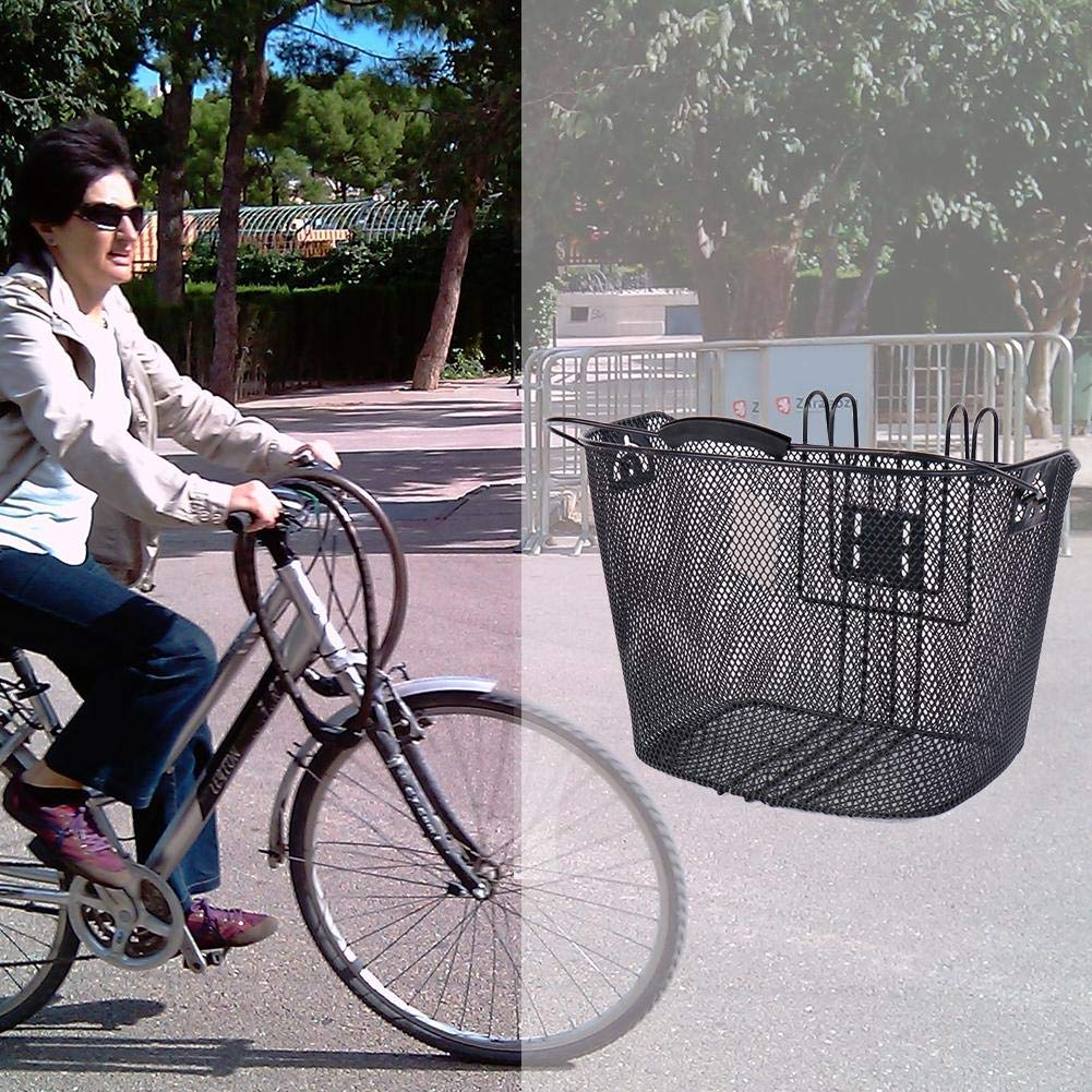 Comaie Panier de Guidon Double Crochet Portable paniers de vélo Avant Universel Crochets Box Rouille Comaie®