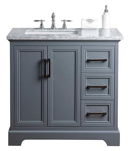 stufurhome hd 1525g 36 cr ariane 36 inch slate gray vanity cabinet rh amazon com