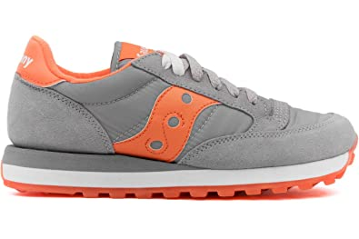 new concept e5306 40c1a Amazon.com | Saucony Women's Jazz Original W, Grey/Orange, 6 ...