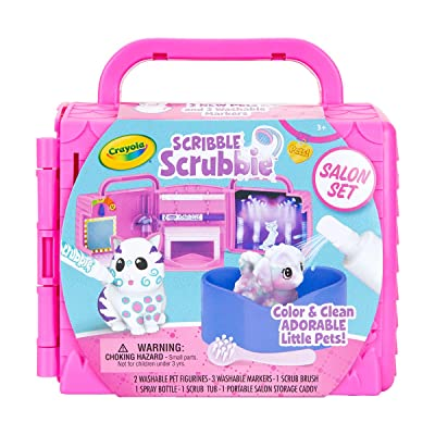 Crayola Scribble Scrubbie Pets, Beauty Salon Playset with Toy Pets, Gift for Kids: Toys & Games