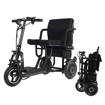 Amazon.com: WISGING Scooter eléctrico plegable de 3 ruedas ...
