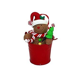 Weihnachtsdeko Lebkuchenmann.Gall Zick Weihnachtsdeko Hänger Set 2 Fimo Christbaumschmuck Dekoration Weihnachten Fensterdeko Geschenkanhänger Lebkuchenmann Im Eimer