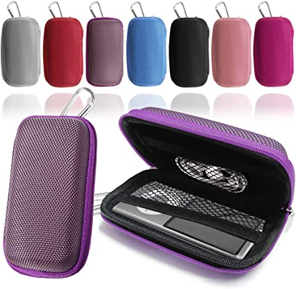 Hard Clamshell Case Holder with Carabiner Clip for AGPtEK A02 70 MP3 Player GUPi LOVE MY CASE//DURABLE Purple Heart MP3 Player Case Earphone Case