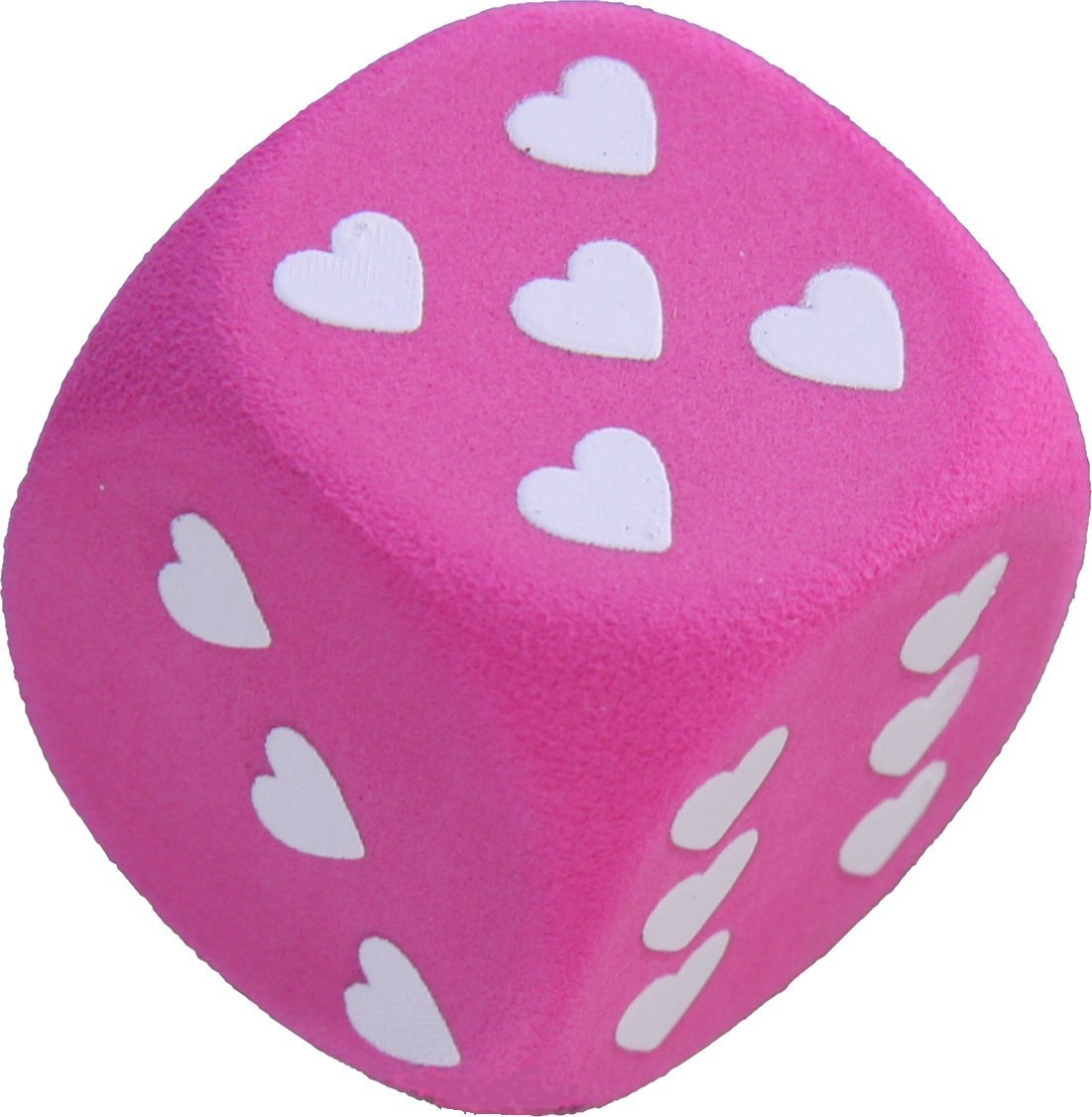Pink Dice with White Hearts Car Aerial Ball Antenna Topper Aerialballs