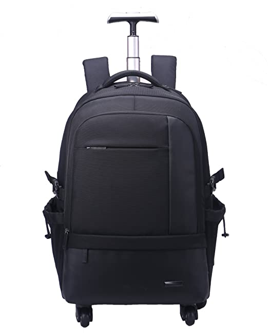 b31cd4b770 AOKING 50L Water Resistant Travel School Business Rolling Wheeled Backpack  with 15 quot  Laptop Compartment