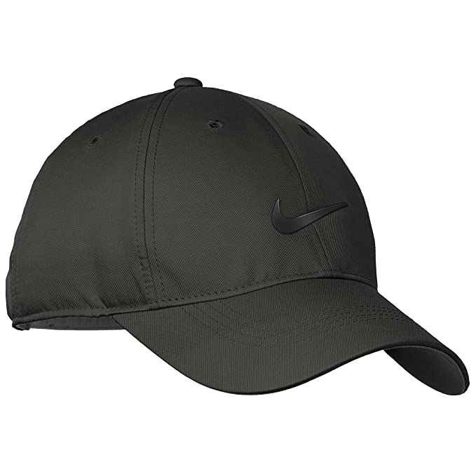 8d1d388d791 Nike Men s Golf Dri-Fit Swoosh Anthracite Front Cap (Black)  Amazon.in   Clothing   Accessories