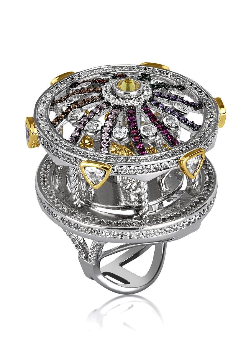 shaze Bold Carousel Ring|Gift for Her Birthday|Christmas Gift for Her