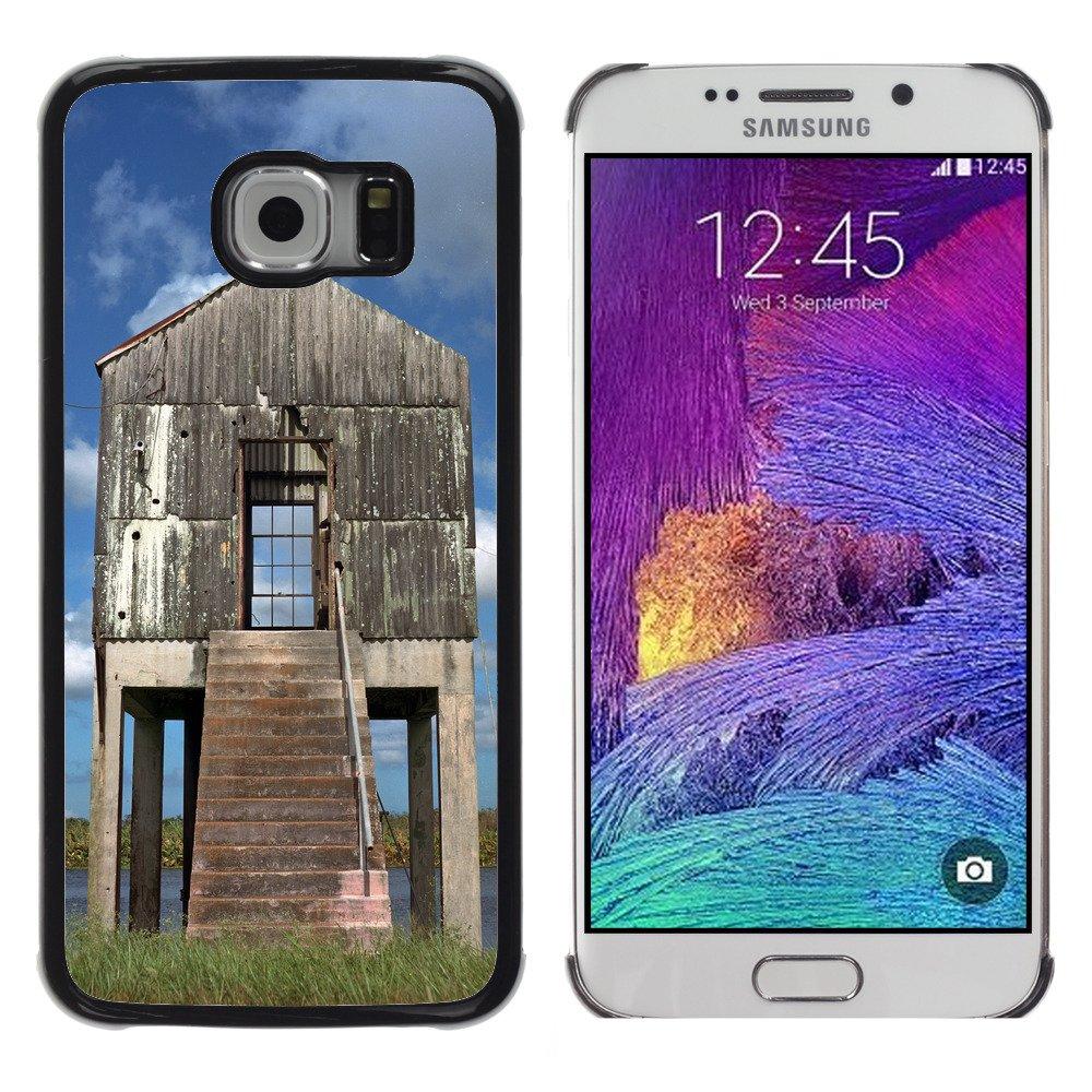 Print Motif Coque de protection Case Cover // F00026595 caseta de bombeo Negleckted en un lago // Samsung Galaxy S6 EDGE (Not Fits S6): Amazon.es: ...