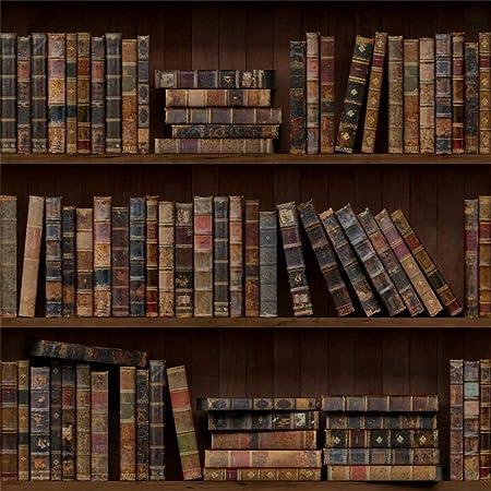 Leowefowa 3x3m Vinilo Telon de Fondo Biblioteca Estanterías ...