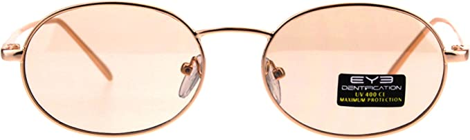 Vintage Retro Oval Sunglasses Hipster Hippie Fashion Metal Frame Glasses UV 400