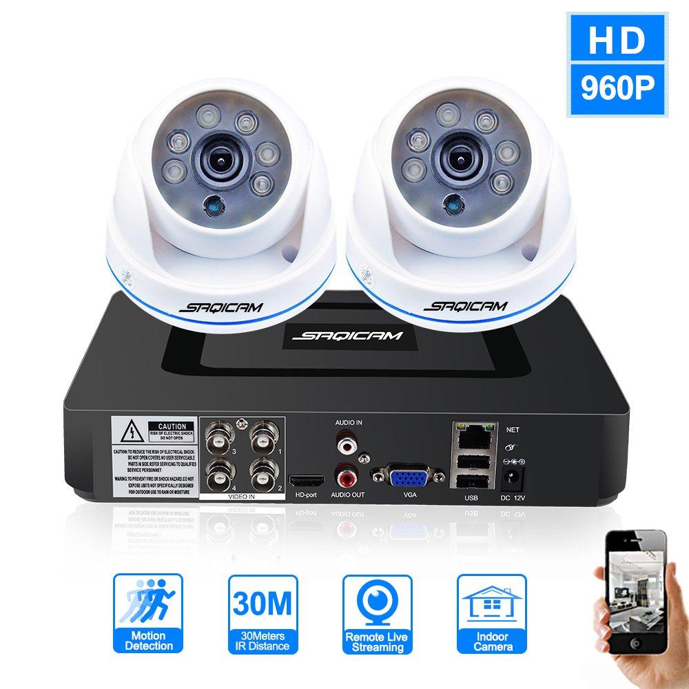 100 %品質保証 SAQICAM 4Ch 4Ch 960P 960P Ahdh 1080NセキュリティDVRレコーダーシステム2作品 SAQICAM 1200Tvl屋内固定ドームカメラ1.3メガピクセルデイナイトビジョン B07D342G2V, 熊猫ハウス:2430740b --- martinemoeykens-com.access.secure-ssl-servers.info