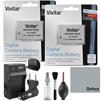Amazon.com: Baterías, cargadores & Grips/LP-E8 Canon Rebel ...
