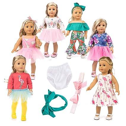 Amazon.com: Ropa de muñeca de unicornio americano, accesorio ...