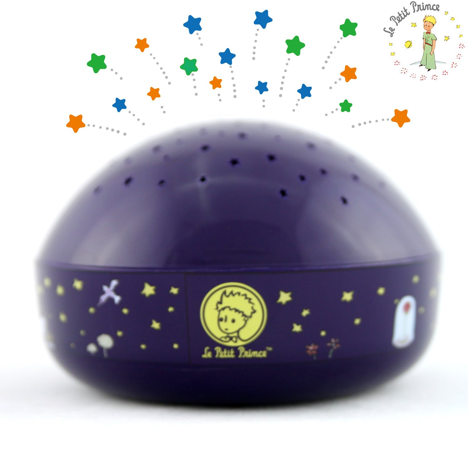 ''Touch Active, Easy Clean'' Twilight Constellation Galaxy Round Projector Night Light by Lumitusi (Le Petit Prince)