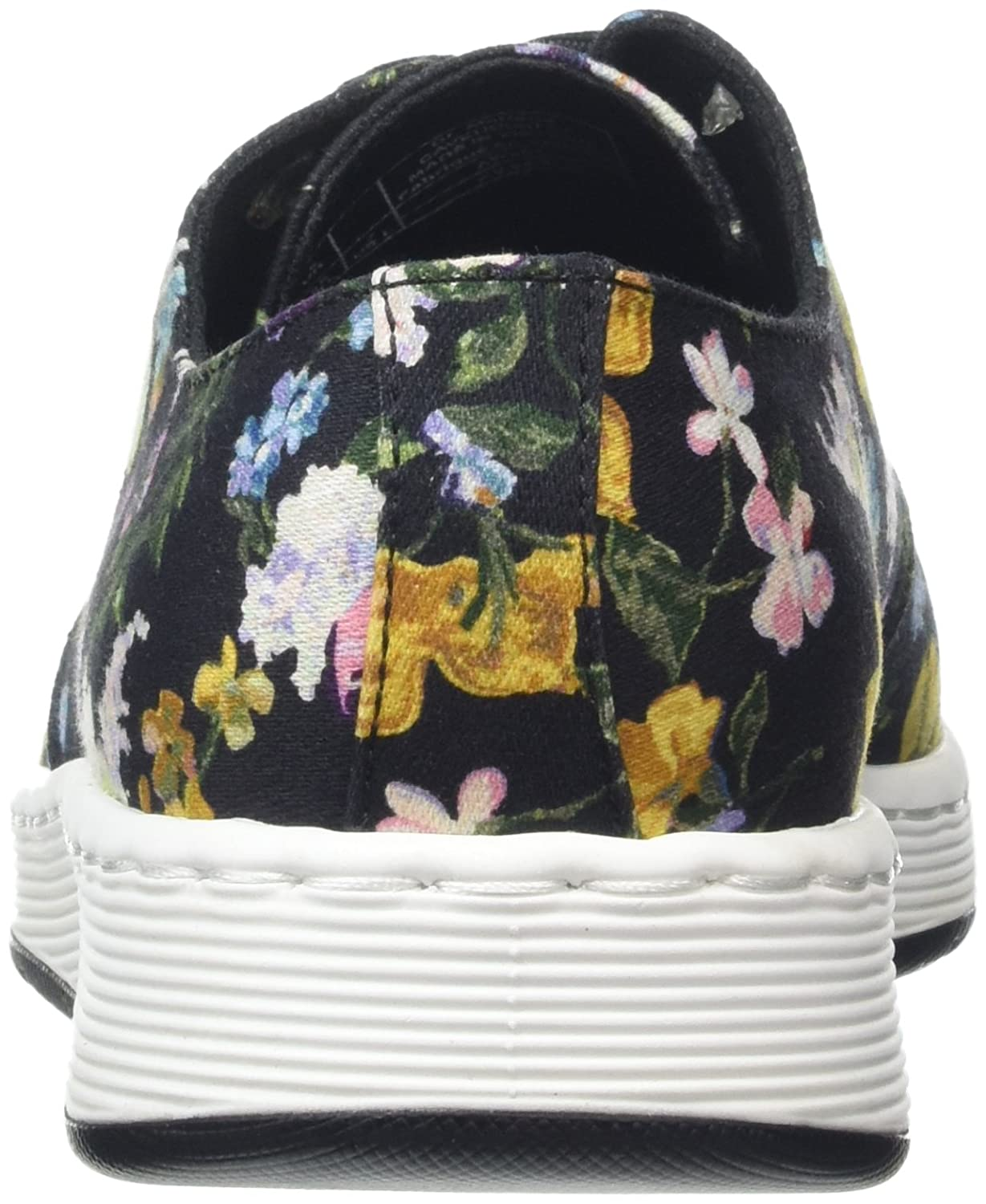 Dr. Martens Women's Darcy Floral Cavendish 3 Eye Canvas, Leather Sneakers B01NANVHO5 4 M UK / 6 B(M) US|Black Darcy Floral Fine Canvas