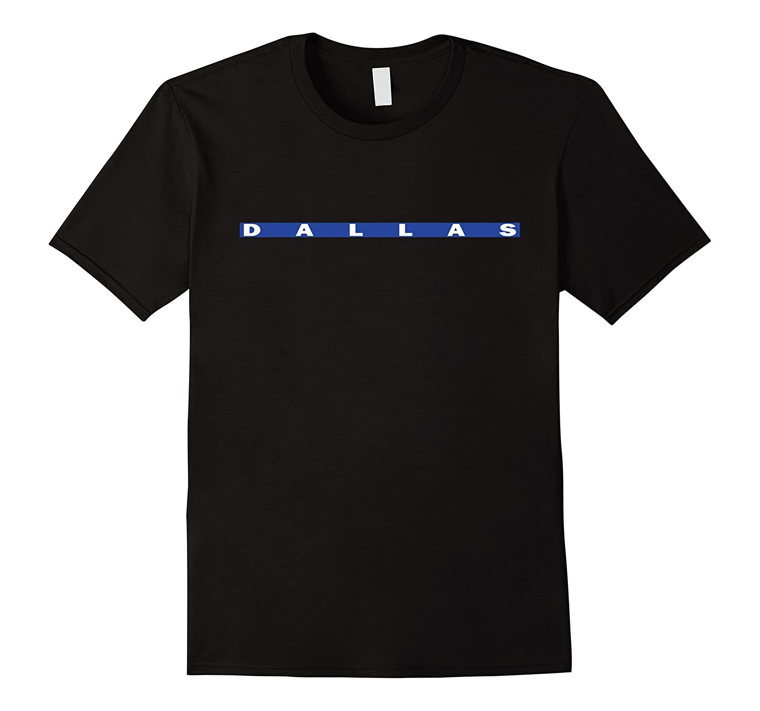 Pray For Dallas Thin Blue Line Shirt-RT