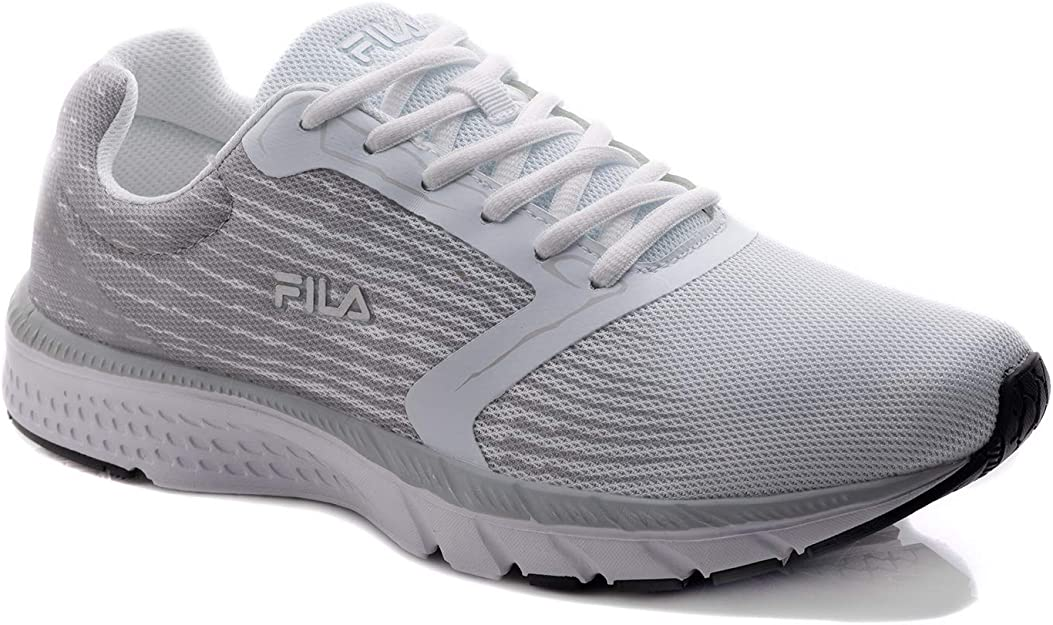 Fila Citara - Zapatillas de Running para Hombre, Plateado (Blanco/Plateado), 43.5 EU: Amazon.es: Zapatos y complementos