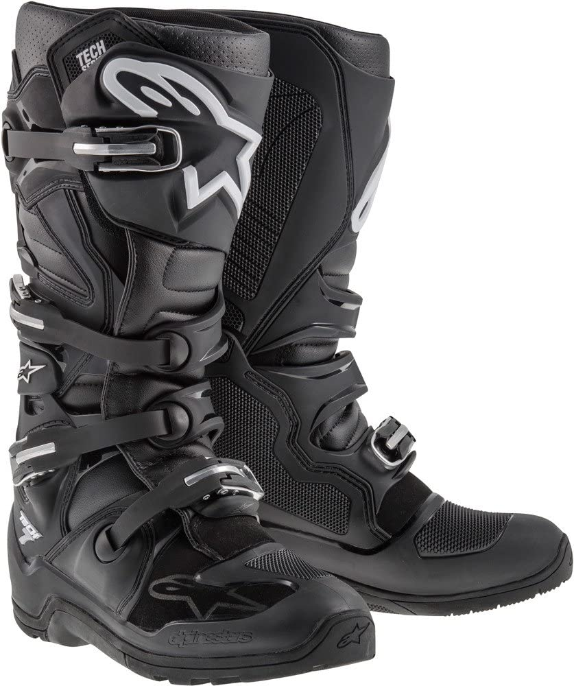 Black//Orange//Blue//White, Size 9 Alpinestars Mens Tech 7 Enduro Boots