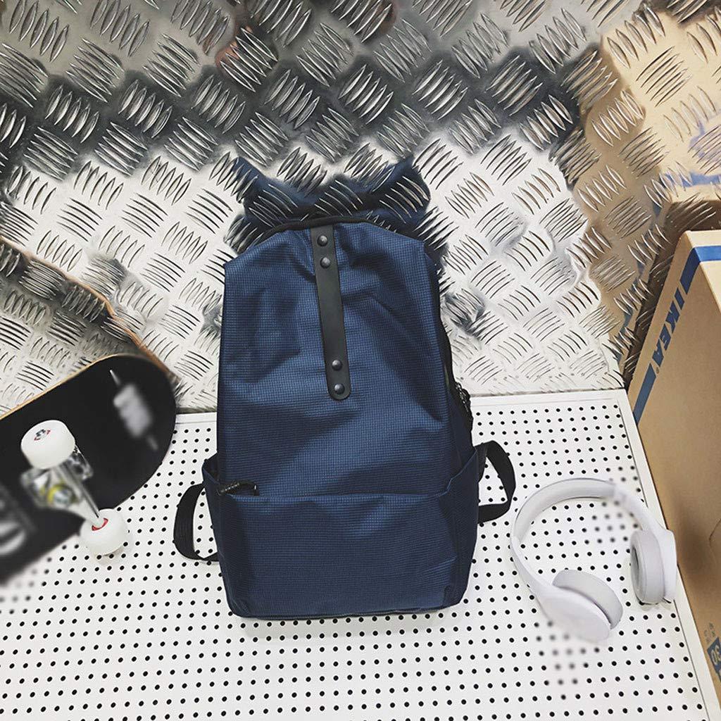 Backpack For Women Vintage Book Bag Color Collision Student Street Trend