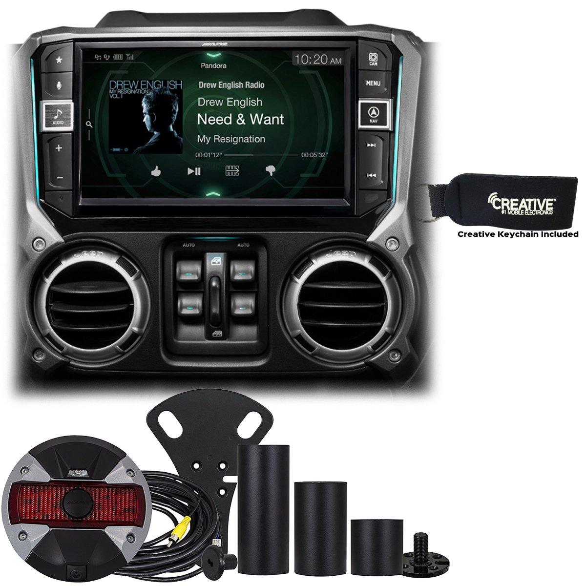Alpine Restyle - i209-WRA 9'' Apple CarPlay Radio, Multimedia system & HCE-TCAM1-WRA Spare Tire Rear View Camera by Alpine