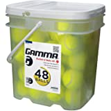 Gamma Bucket of Pressureless Tennis Balls - Sturdy, Reusable, and Portable Bucket Ideal for Practice, Training, and Teaching,