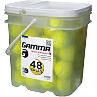 Gamma Bucket of Pressureless Tennis Balls - Sturdy, Reusable, and Portable Bucket Ideal for Practice, Training, and…