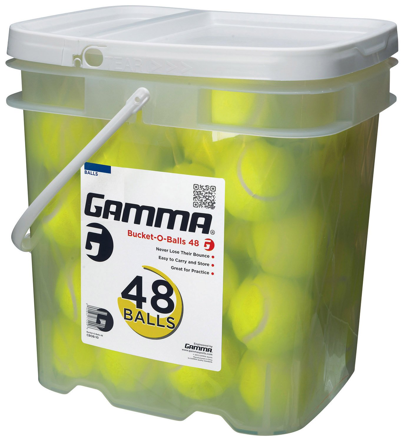 Gamma Sports Bag-O-Balls Pressureless Tennis Balls, Bag of 18 CGBOB10