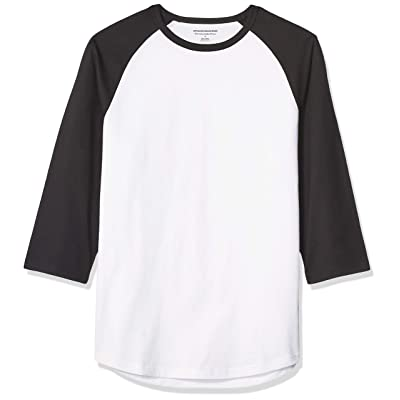 Essentials Men's Slim-fit 3/4 Sleeve Baseball T-Shirt: Clothing