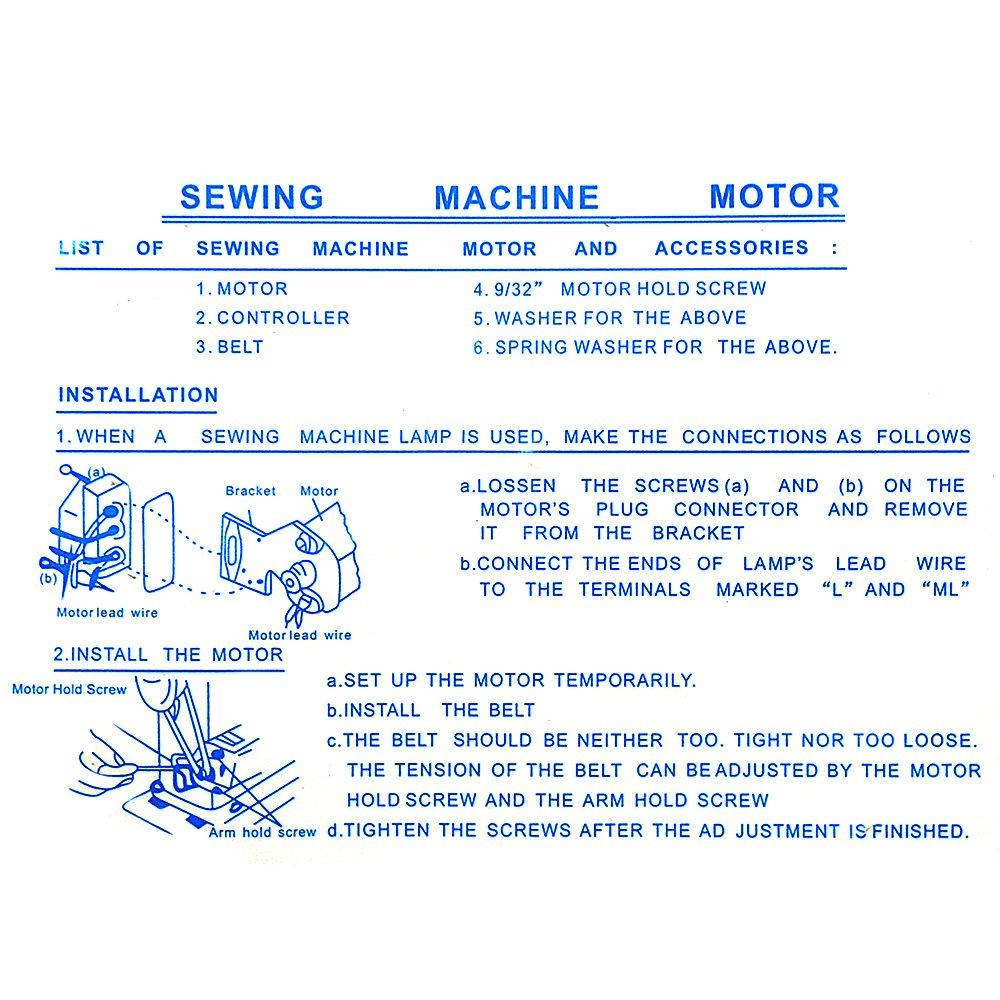 Rayinblue 220 V 180 W Hogar Máquina de coser eléctrica motor + ...