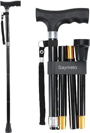 Amazon.com: Saymeto Bastón plegable, bastón ligero para ...