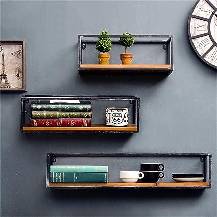 Mensola in metallo per soggiorno in ferro per bar | Mensola a muro ...