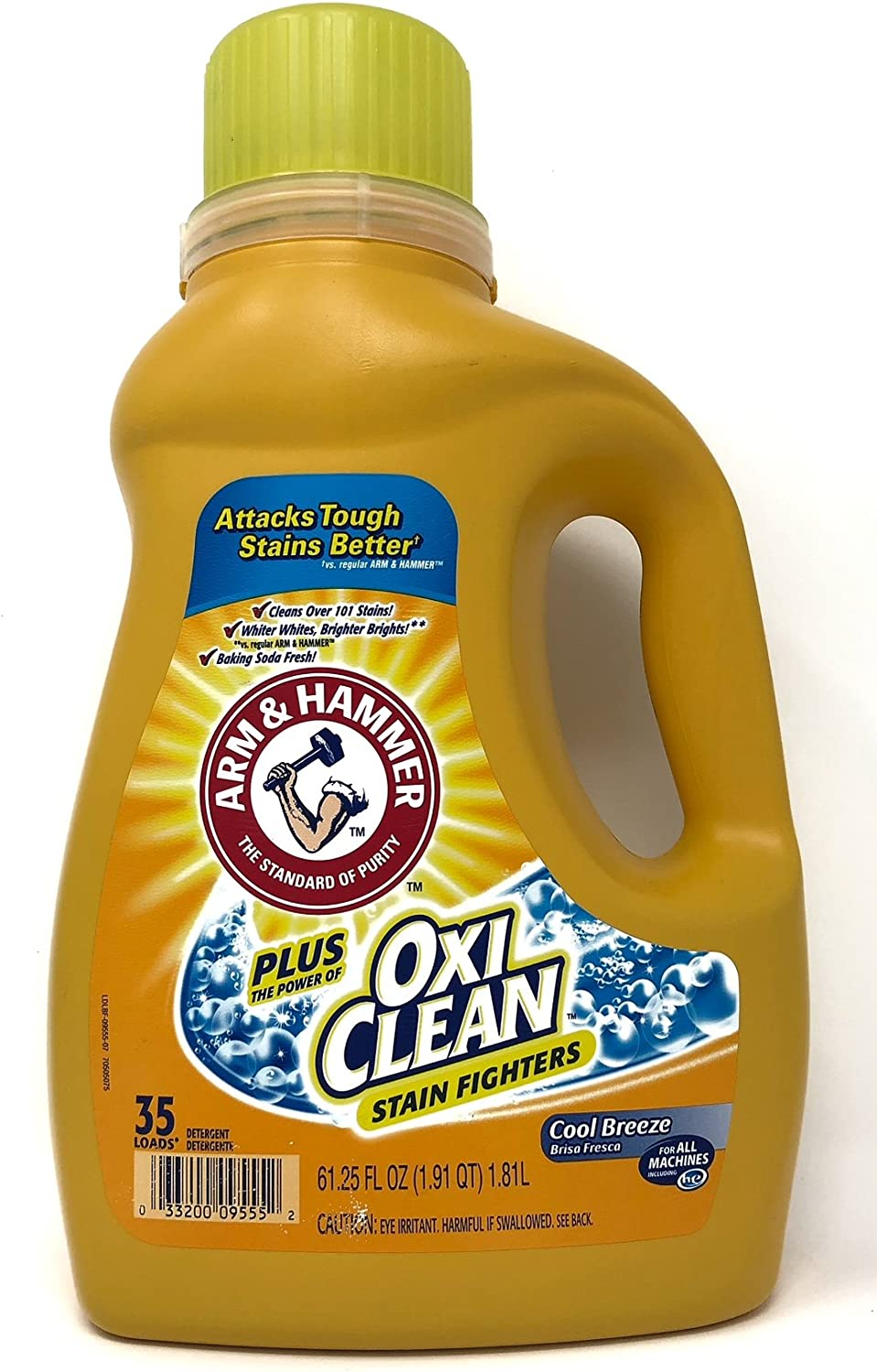 Arm & Hammer HE Liquid Concentrate Plus OxiClean, Cool Breeze, 61.25 Ounces