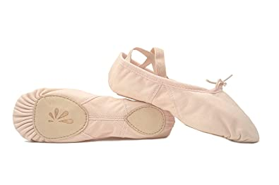 e1eab41d663 DANCE YOU 1104-1 Canvas Ballet Slippers with Split Sole Ballet Shoes for  Women and