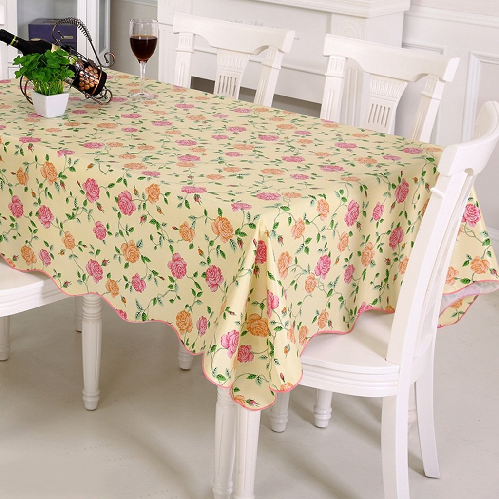 ASL Tablecloth PVC Waterproof Oil-proof No-clean Plastic Table Cloth Coffee Table Cloth select ( Color : A , Size : 106*152cm ) ANSHULONG