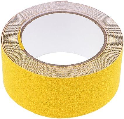 Rollo 5cmx5m Etiqueta Adhesiva Cinta Adhesiva Seguridad Antideslizante Para Piscinas De Escalera - amarillo, 5cmx5M: Amazon.es: Oficina y papelería
