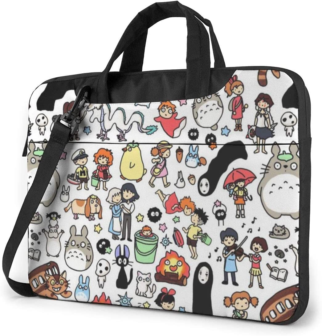 Laptop Sleeve Bag My Neighbor Totoro Spirited Away No Face Man Laptop Sleeve Case Cover, 15.6 inchTablet Briefcase, Notebook Sleeve Case