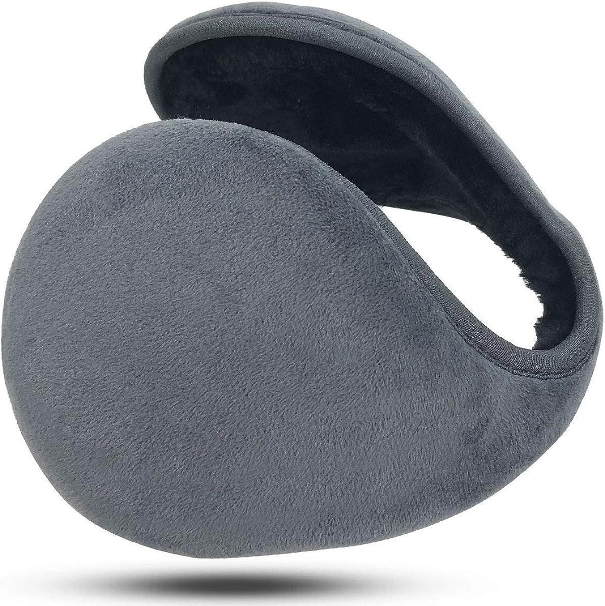 PIKABU Winter Knit Ear Warmers Unisex Classic Fleece Foldable Earmuffs for Men Women